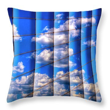 Throw Pillow featuring the photograph Vertical Sky by Paul Wear