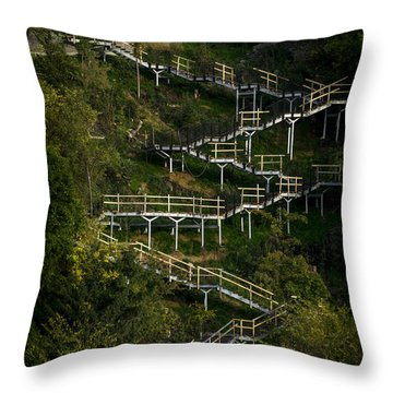 Vertical Stairs Throw Pillow by Celso Bressan