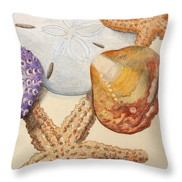 Vertical Starfish Throw Pillow