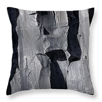 Vertical Trails Throw Pillow