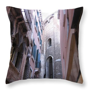 Vertigo In Venice Throw Pillow