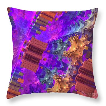 Throw Pillow featuring the digital art Vertigo by Lyle Hatch