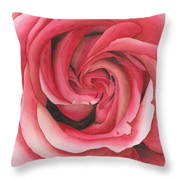 Vertigo Rose Throw Pillow by Ken Powers