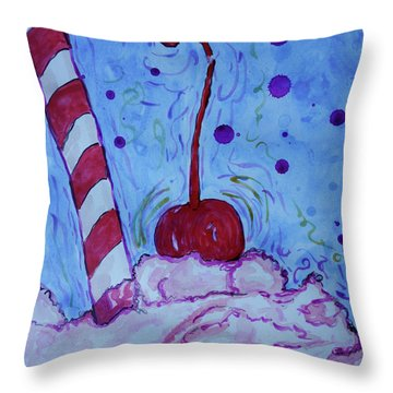Very Cherry Soda Throw Pillow