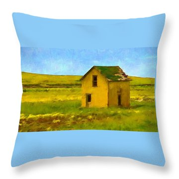 Very Little House Throw Pillow