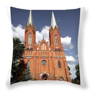 Very Old Church In Odrzywol, Poland Throw Pillow by Arletta Cwalina