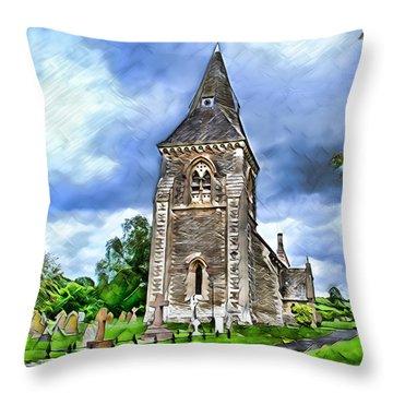 Very Old Church Throw Pillow