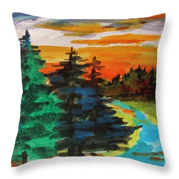 Very Quiet Throw Pillow by John Williams