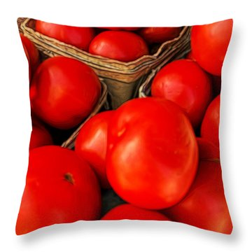 Very Red Tomatoes Throw Pillow