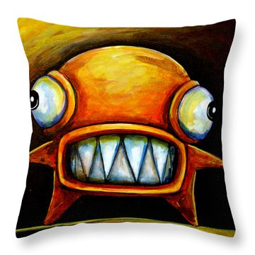 Very Scarey Glob Throw Pillow