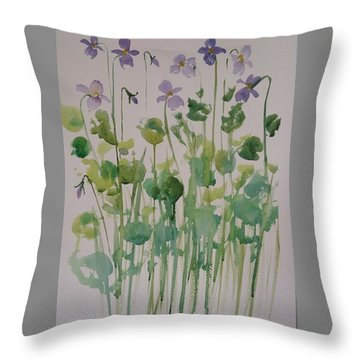 Very Violet Throw Pillow
