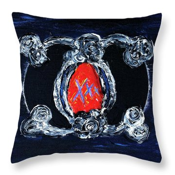 Vesica Black Suns Throw Pillow