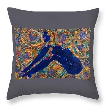 Vesica  Pisces Throw Pillow by Apanaki Temitayo M