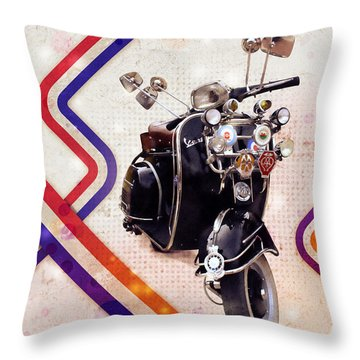 Scooters Throw Pillows