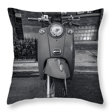 Throw Pillow featuring the photograph Vespa by Sebastian Musial