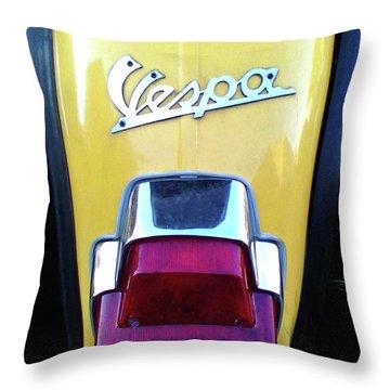 Vespa Style Throw Pillow by Rebecca Harman