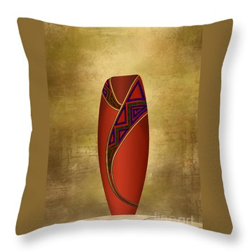 Vessel In Red Throw Pillow