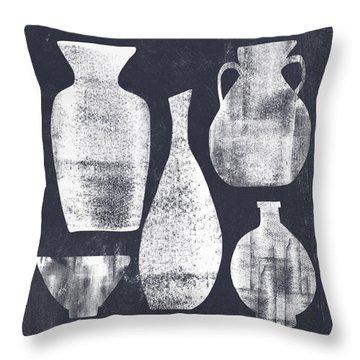 Vessel Sampler- Art By Linda Woods Throw Pillow