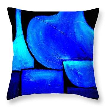 Vessels Blue Throw Pillow
