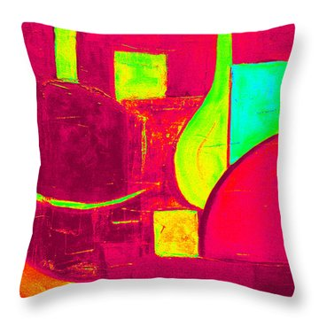 Vessels Very Colorful Throw Pillow