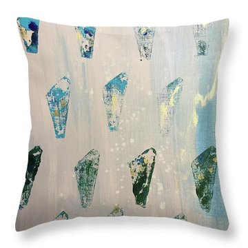 Throw Pillow featuring the painting Vestige by Robin Maria Pedrero