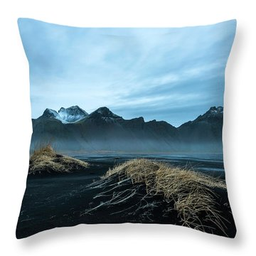 Vestrahorn Mountain Evening Throw Pillow