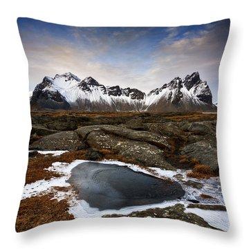 Vestrahorn Throw Pillow by Roddy Atkinson