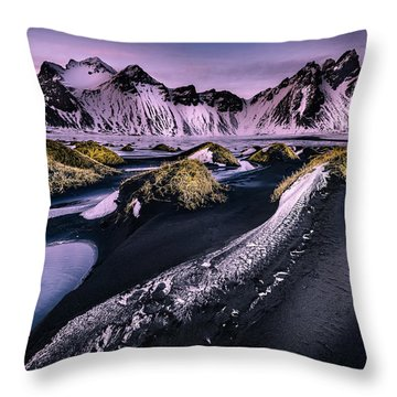 Vestrahorn, South Iceland Throw Pillow