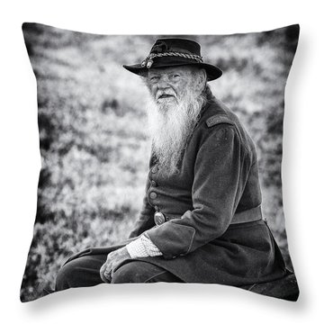 Veteran Soldier Throw Pillow by Alan Raasch