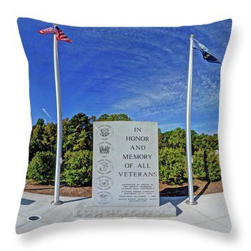 Veterans Freedom Park, Cary Nc. Throw Pillow by George Randy Bass