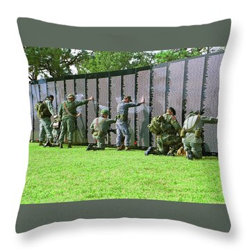 Veterans Memorial Throw Pillow