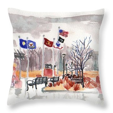 Veteran's Memorial Park Throw Pillow