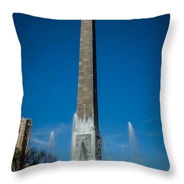 Veteran's Memorial Plaza Throw Pillow