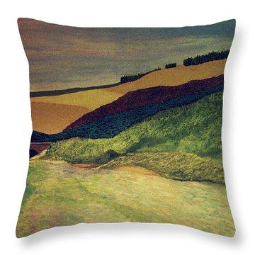 Vetheuil At Dawn Throw Pillow