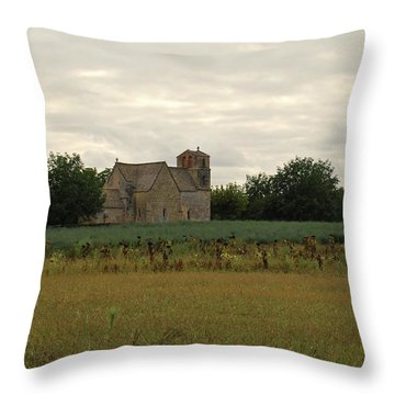 Vezac Church 1300 Throw Pillow