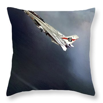 Vf-41 Black Aces Throw Pillow by Peter Chilelli