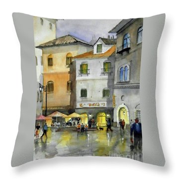 via Corso Throw Pillow
