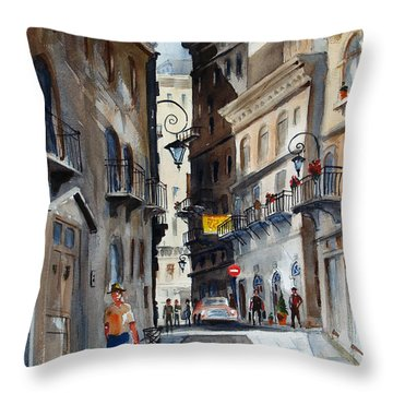 via Giardinetti  Throw Pillow