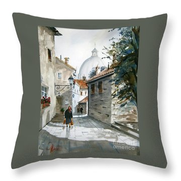 Via Coronari Throw Pillow
