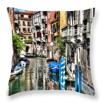 Throw Pillow featuring the photograph Viale Di Venezia by Tom Cameron