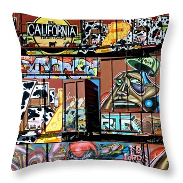 Vibe Train Throw Pillow