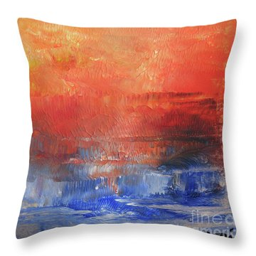 Vibrance Of Fall Throw Pillow