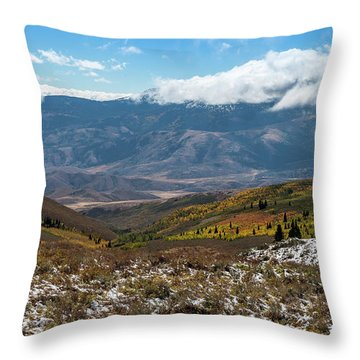 Vibrance Of The Storm Idaho Landscape Art By Kaylyn Franks Throw Pillow