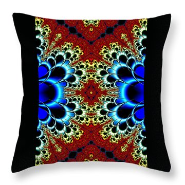 Vibrancy Fractal Cell Phone Case Throw Pillow by Lea Wiggins