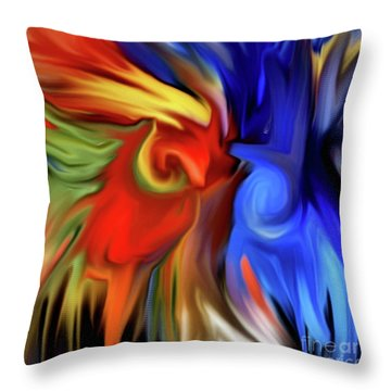 Vibrant Abstract Color Strokes Throw Pillow