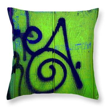 Vibrant City Throw Pillow