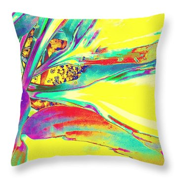 Vibrant Fascination  Throw Pillow by Rachel Hannah