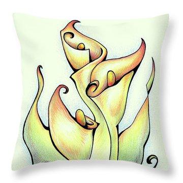 Vibrant Flower 3 Arum Lily Throw Pillow