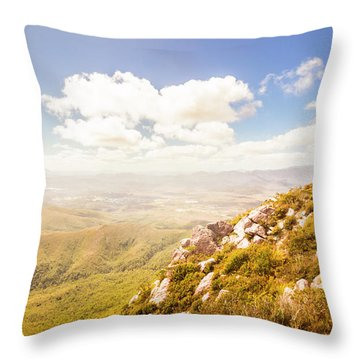 Vibrant Hills And Valleys Throw Pillow