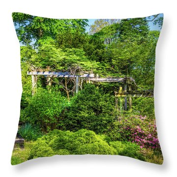 Vibrant Landscape Greenery Throw Pillow